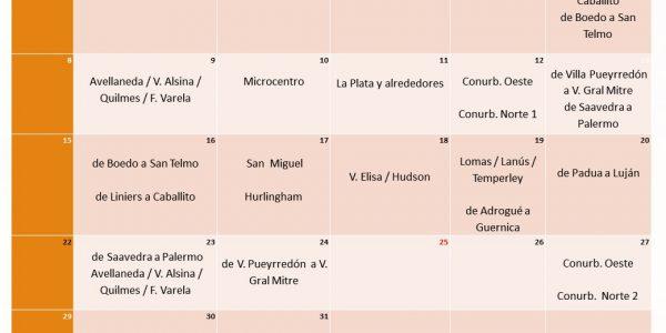 Cronograma Mayo